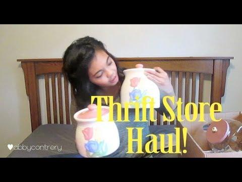 Thrift Store Haul & DIY