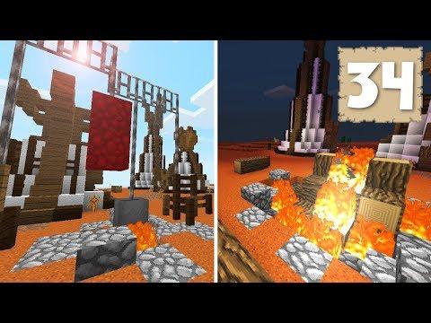 BONFIRES & CAMP GROUND DETAILS! - Survival Let's Play Ep. 34 - Minecraft
