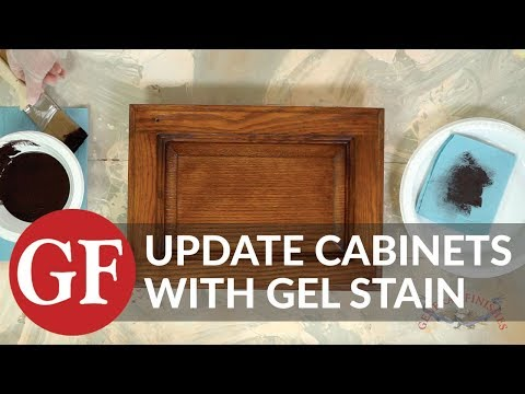 How to Update Existing Cabinets, Furniture & Projects with Gel Stain