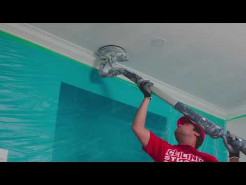 Dust Control For Ceiling Stucco Removal