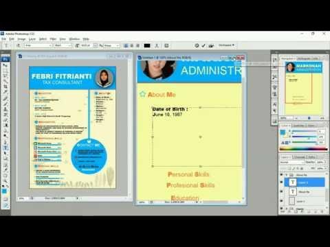 Photoshop Tutorial : How to Create a Resume (Curriculum Vitae)