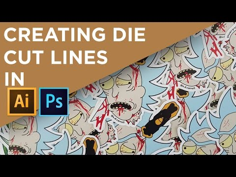 How I add die cut lines to my artwork in both Photoshop and Illustrator