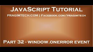 JavaScript window onerror event