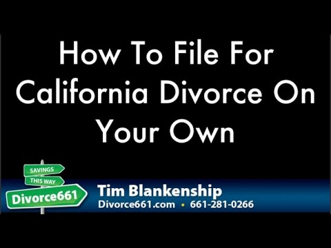 California Divorce : How To File For Divorce On Your Own