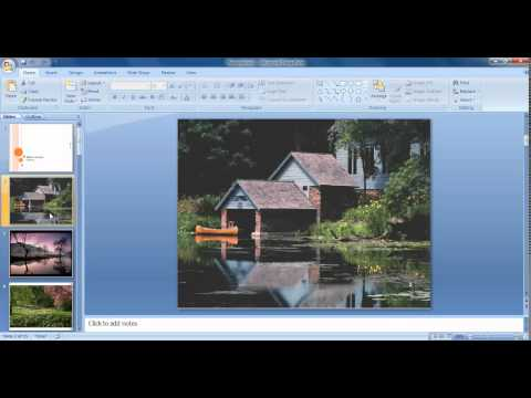 Photo Album With Transition Sound In Microsoft Powerpoint Tamil