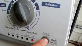 Washer topload diagnostic mode.