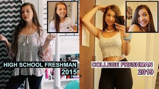 Getting Ready: First Day of Freshman Year vs. First Day of Freshman Year