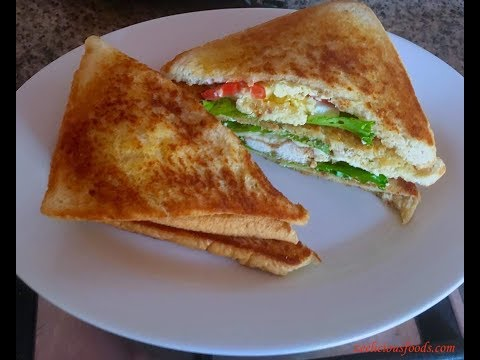 HOW TO MAKE SCRAMBLED EGGS AND SMOKED BACON SANDWICH - SANDWICH RECIPE - ZEELICIOUS FOODS