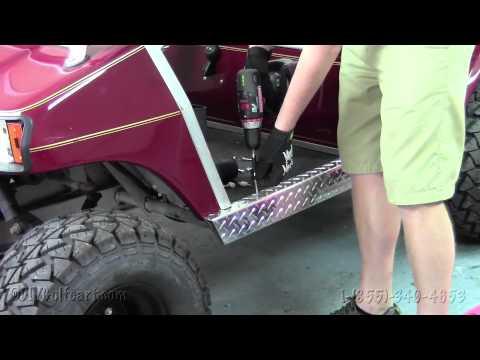 Club Car Diamond Plate Rocker Panels | How to Install Video | Golf Cart Aluminum Diamond Plate