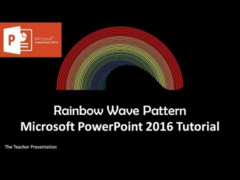 Rainbow Wave Pattern | Motion Graphics Tutorial in Microsoft PowerPoint 2016