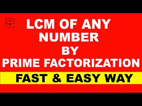 LCM Tricks : LCM/LCD By Prime Factorization Method Easier Than Ever!! - in Hindi