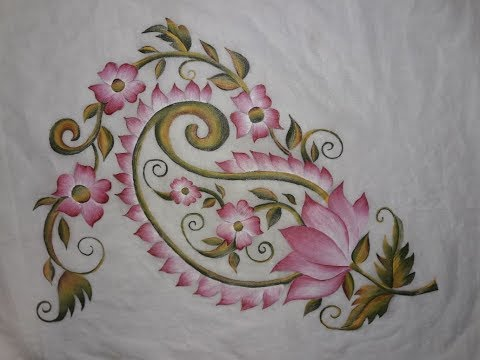Fabric Painting Kurti Corner Design
