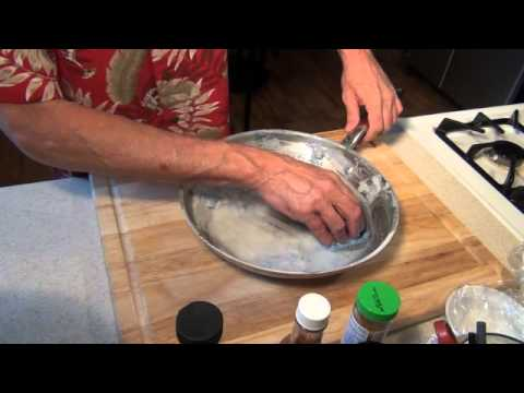 How to clean a stained grill pan