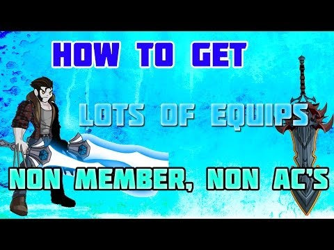 AQW How To Get Many Amazing/Awesome Items Non Member/Non AC(More than 15 Items)