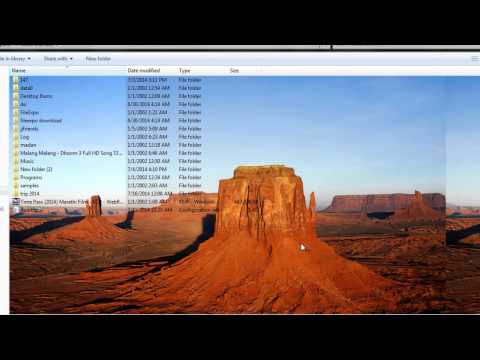 How to change folder background without code in Windows 7