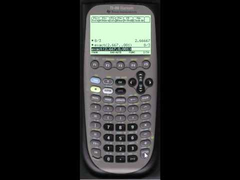 Converting a Decimal Number to a Fraction Using the TI-89 Titanium