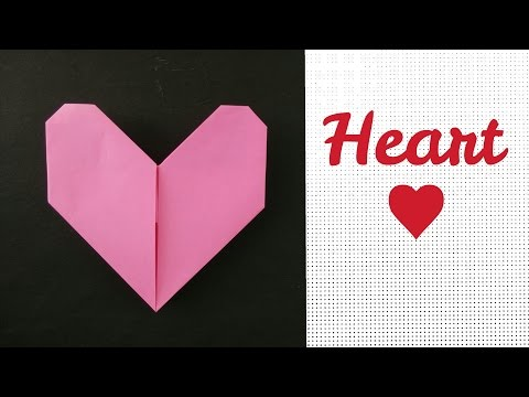 Easy Origami - Paper Heart 💞- A4 sheet  !!