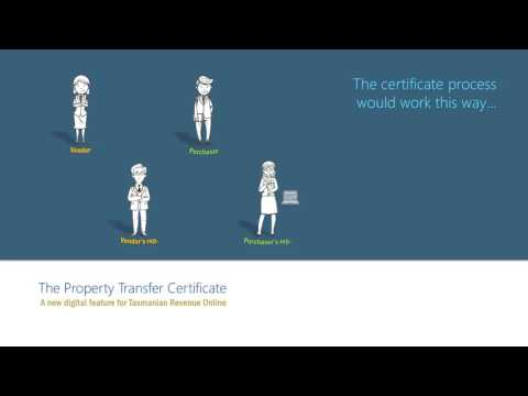 Property Transfer Certificate   May 2017