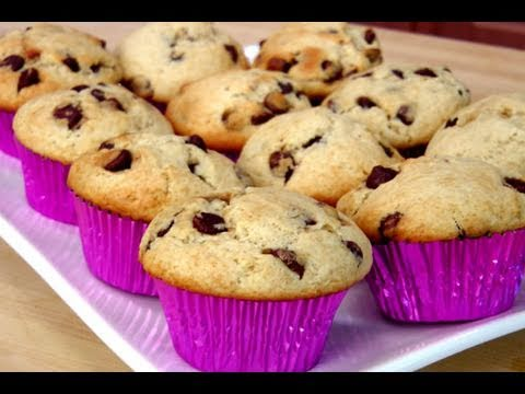 How to Make Homemade Chocolate Chip Muffins recipe - Laura Vitale - Laura in the Kitchen Ep 90