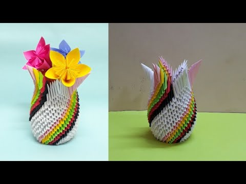 Paper Flower Vase - Tutorial 1