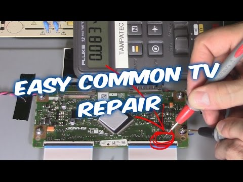 How to Troubleshoot and Fix LED LCD TV Vizio and Sharp flatscreen No Picture but sound