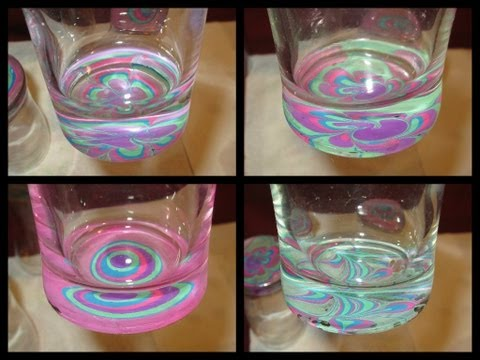 Crafting with Nail Polish- Juice Glass Water Marble