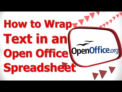 How to Wrap Text in an Open Office Spreadsheet