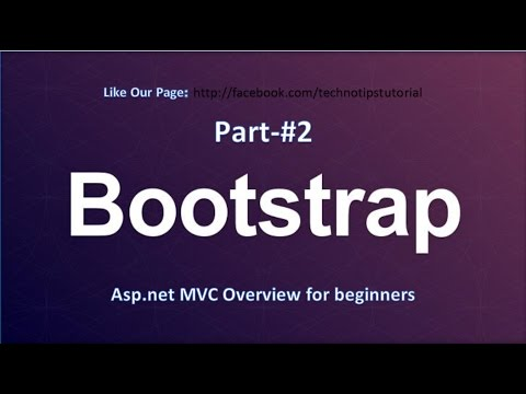 Bootstrap Tutorial - #2 Asp.Net MVC overview for beginners
