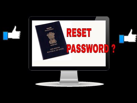 HOW TO RESET PASSWORD OF PASSPORT APPLICATION/PASSPORT WEBSITE? FULL INFO!! (HINDI)