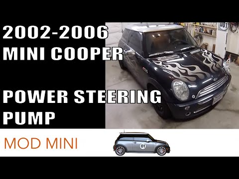 MINI Cooper Replace Power Steering Pump howto - Gen 1 2002-2006 R50 R53 R52