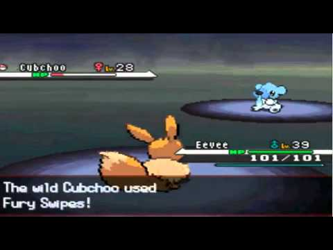 Pokemon Black and White - How To Evolve Eevee into Glaceon
