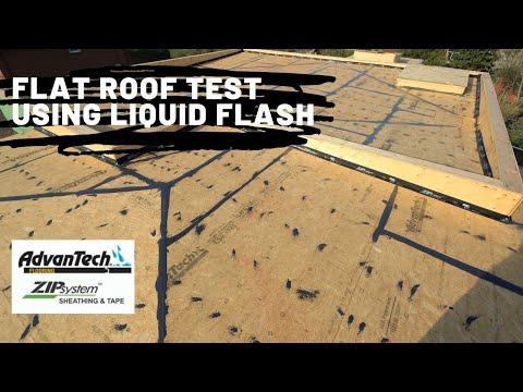 Flat Roof Using AdvanTech and Liquid Flash
