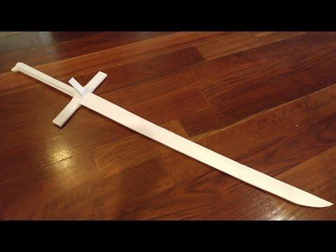 A Battle Ready Paper Sword? Paper Messer Sword Speedbuild