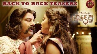 Gautamiputra Satakarni Back To Back Release Teasers - Nandamuri Balakrishna - #NBK100 || Krish