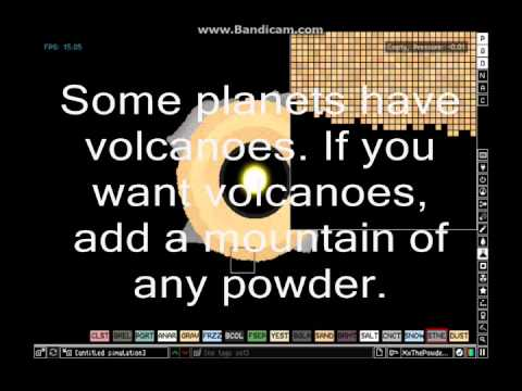 The Powder Toy: How to make a planet