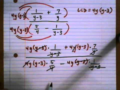 Simplify complex fraction - 1