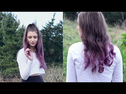 Purple Ombre Hair | DIY for brown hair