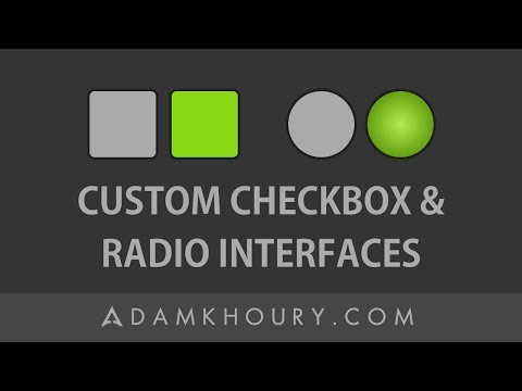 Custom Checkbox and Radio Buttons Scratch Development Tutorial