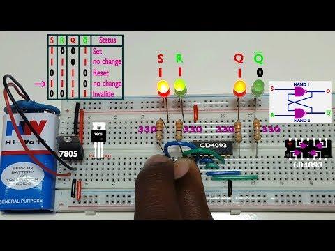 how to work SR flip flop using NAND gate Tamil & English,தமிழ் எலெக்ட்ரானிக்ஸ்