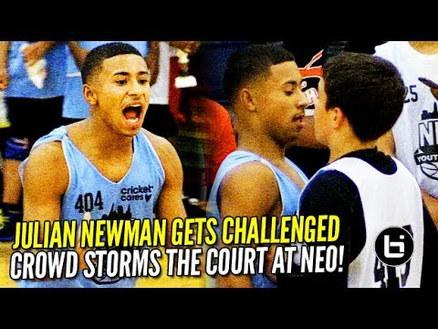 Crowd STORMS the Court after Julian Newman Gets CHALLENGED at NEO Elite!