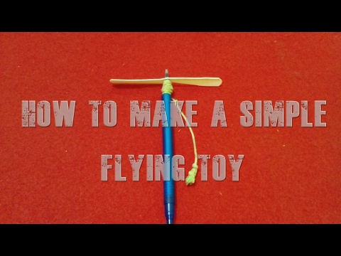how to make flying toy /helicopter {simplest toy}