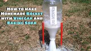 How to make Homemade Rocket with Vinegar and Baking Soda