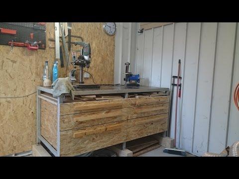 OSB workbench drawers