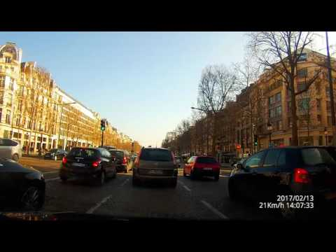 Driving in Paris France 4k dashcam from west to east