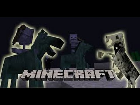 How to get skeleton and zombie horse in Minecraft!