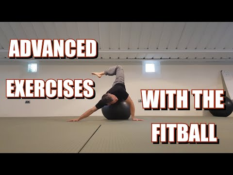 21 THINGS YOU CAN DO WITH A FITBALL || ADVANCED EXERCISES