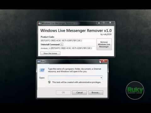 HOW TO...Uninstall Windows Live Messenger using the WLM Remover v1.0