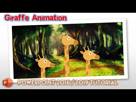 3 Giraffes | Character Rigging and Motion Graphics in PowerPoint 2016 Tutorial