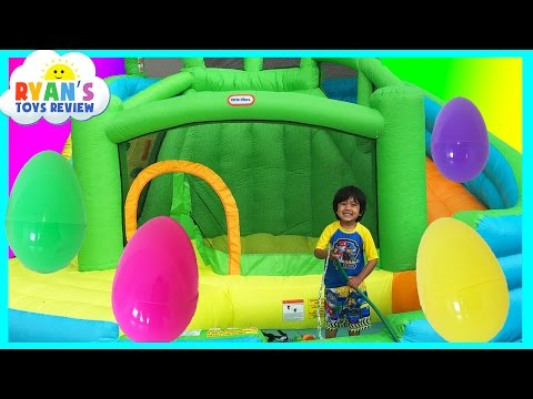 Xxx Mp4 HUGE EGGS Surprise Toys Challenge With Inflatable Water Slide 3gp Sex
