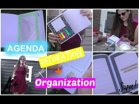 BACK TO SCHOOL| DIY Agenda organization + decoration